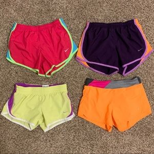 Nike and Danskin Girls Athletic Shorts